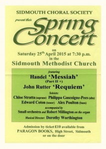 Spring Concert Sidmouth Methodist Church April 2015